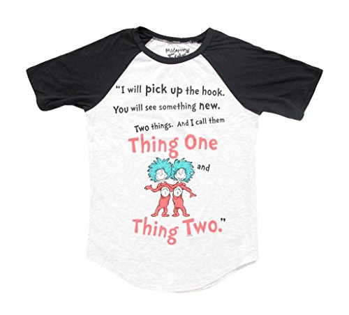 Dr. Seuss Two Things Thing 1 and Thing 2 Rules Juniors T-Shirt (Medium) for $<!--$17.95-->