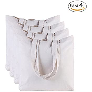 canvas bag by dimayar 4pcs washable canvas shopping bag resuable grocery bags cloth shopping bags canvas