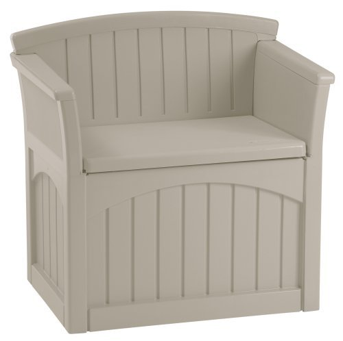 Premium Storage Bench Furniture Seat for Patio Deck or Garden Seating Outdoor in Suncast Small Design by Suncast