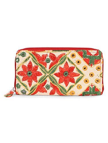 JaipurSe - Cartera de mano de fieltro para mujer rojo rosso: Amazon.es: Ropa y accesorios