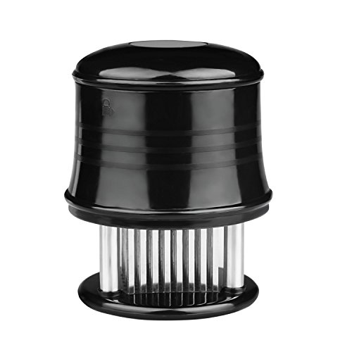 Stainless Steel Blades Meat Tenderizer with Cleaning Brush for fast cooking & Time-saving, For Chicken, Steak, Beef, Turkey & Pork, Black (Blade Meat Tenderizer compare prices)