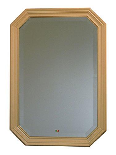 イタリア製 JHAアンティーク風水ミラー シンプル (アイボリー&ゴールド) 八角形W473×H673(M) IE-52 (デラックス:面取り加工)八角ミラー 八角鏡 壁掛け鏡 ウォールミラー B01K8ZJBH4 アイボリー&ゴールド アイボリー&ゴールド