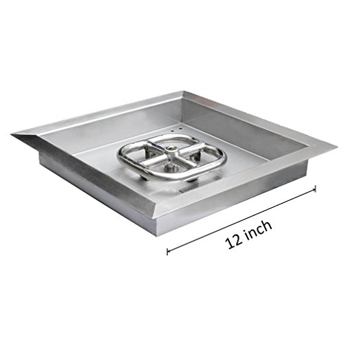 Onlyfire Square Stainless Steel Drop-in Fire Pit Burner R...