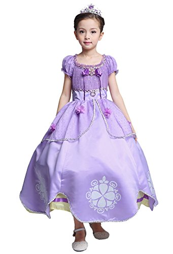 Sophia The First Costumes (Girls Fashion Princess Costume Dress Up Cosplay Dress for Girls Aged 11-12)