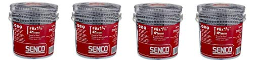Senco 06A162P Duraspin# 6 by 1-5/8'' Drywall to Wood Collated Screw (1, 000per Box) (4-(Pack))
