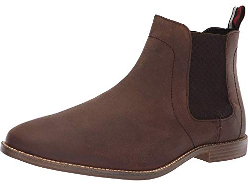 Ben Sherman Men's Gaston Chelsea Boot, Brown Leather, 9.5 M US