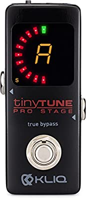 KLIQ TinyTune Mini Chromatic Tuner Pedal for Guitar & Bass from KLIQ Music Gear