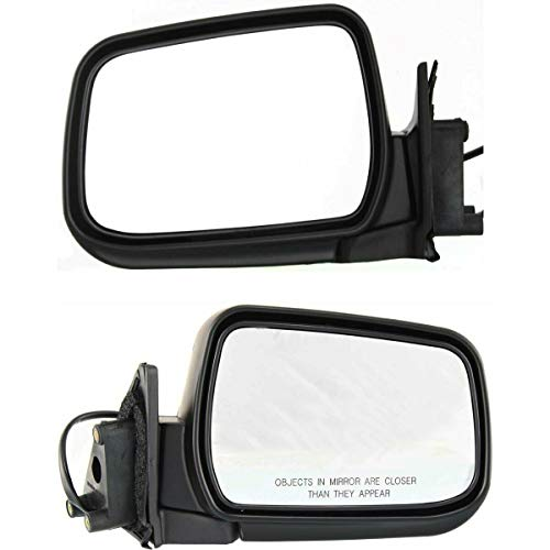 Make Auto Parts Manufacturing Set of 2 Driver and Passenger Side Power Door Mirrors For Nissan Frontier 1998-2004 & For Nissan Xterra 2000-2004 - NI1321140 NI1320140 ()