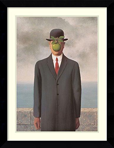 Framed Wall Art Print | Home Wall Decor Art Prints | The Son of Man by Rene Magritte | Modern Contemporary Decor Framed Art Print | Home Wall Decor Art ()