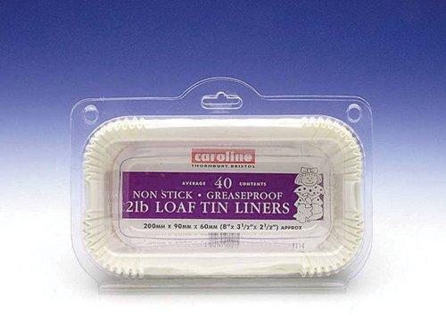 Caroline Packaging Loaf Tin Liners (40) 2lb 56577873437