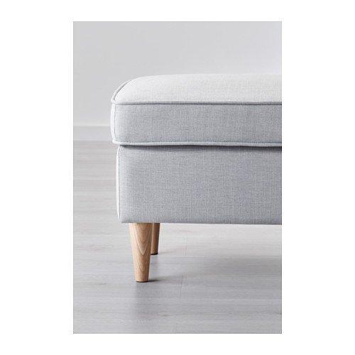 Ikea Strandmon Hocker Nordvalla Hellgrau Amazonde Küche Haushalt