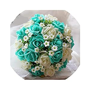 Wenzi-Day Handmade Artificial Wedding Bouquet Flower Bridal Bouquet for Wedding Decoration Flores de la boda 36