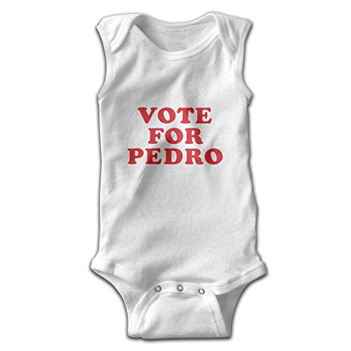 (Vote for Pedro Newborn Infant Toddler Baby Girls Boys Sleeveless Bodysuit Onesies 0-24 Months White 12M)