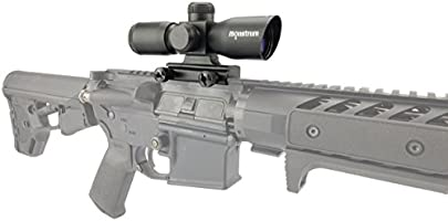Monstrum 4x30 Ultra-Compact Rifle Scope with Illuminated Range Finder Reticle