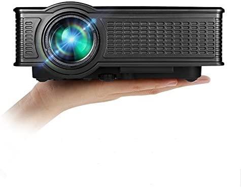 HuiHeng Full HD LED Proyector Mini 1500 Lumen Proyector de Las multimedias HDMI VGA SD USB AV para el Entretenimiento del Teatro casero