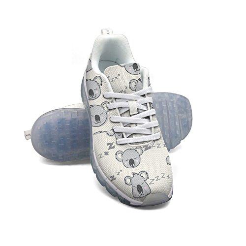 FAAERD Cute Koala Pattern Women's Breathable Mesh Air Cushion Sports Running Shoes Casual Walking Sneakers outlet fake Q4xw5UTX