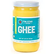 Tin Star Foods Organic Ghee -100% Grassfed - Gluten-Free - Whole30 - Non-GMO - Paleo - Made in USA - 29 oz (1 jar)