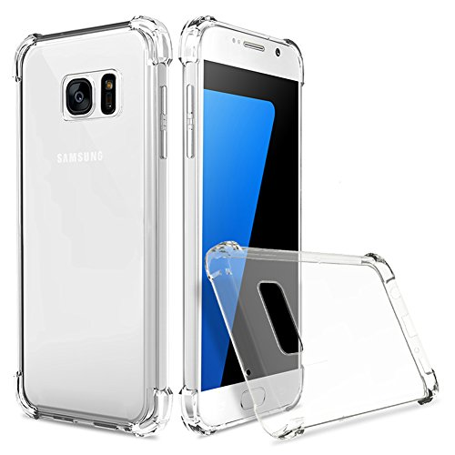 Boonix Clear Case for Samsung Galaxy J3 2016, J3V, Express Prime, Amp Prime, Galaxy Sol, Sky, J36, J36V, J3 Nova [Full Protection Bumper][Transparent Shock Absorber]- Guard Against Drop Impact (Clear)