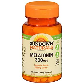 Sundown Melatonin 300 mcg Tablets 120 ea (Pack of 3)