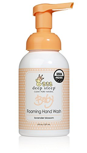 Deep Steep Baby Foaming Hand Wash, 8 Ounces, Lavender Blossom