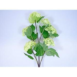 """Phoenix Silk Snowball Spray 6 Artificial Silk Flowers 25"""" Stem 6950 GREEN 117"""