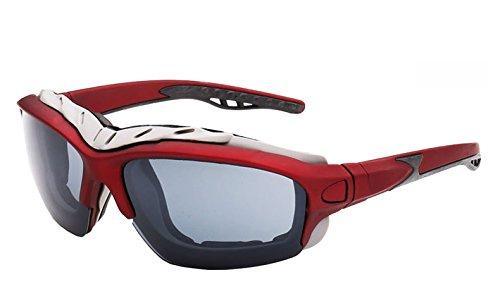 Zygeo Lunettes miroir Gafas AT1208 de Femmes C3 de soleil Gris C5 anti Lunettes Red de oculos r¨¦fl¨¦chissant Lunettes Hommes vent Cool soleil air plein rHr7Za