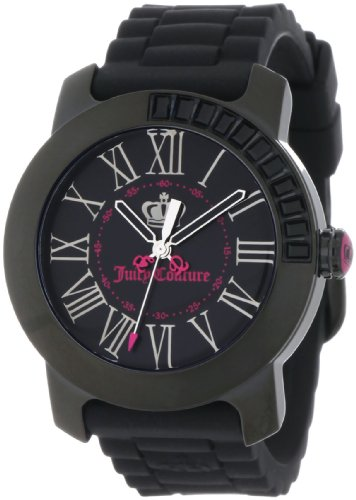 Juicy Couture Women's Black Silicone Strap Watch - 5