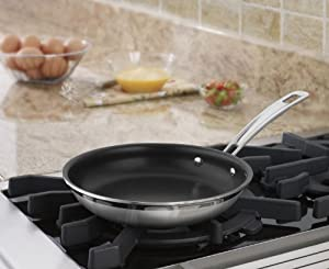 Cuisinart MCP22-20NSN MultiClad Pro Nonstick Stainless Steel 8-Inch Skillet
