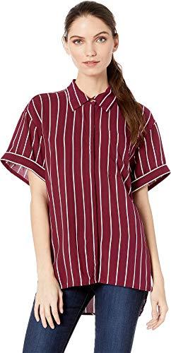 Juicy Couture Women's Cindy Stripe Shirt Bordeaux/Cindy Stripe Small
