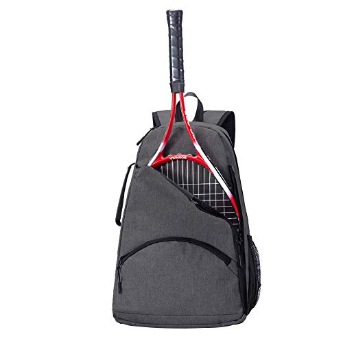 Tennis Backpack,Tennis Racket Holder Bag, Large Capacity Tennis & Racquet Sports Duffle Bag, 36L Tennis/Racquetball/Squash Equipment Bag for Men, Women and Teenagers (Dark Grey)