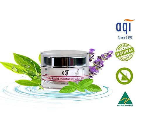 (AQI Face Cream & Neck Cream with Sodium Hyaluronate, Omega 6 & Beta Glucan | Daily Facial Moisturizer | for Sensitive, Dry & Irritated Skin for Women & Men - 1.7 fl oz)