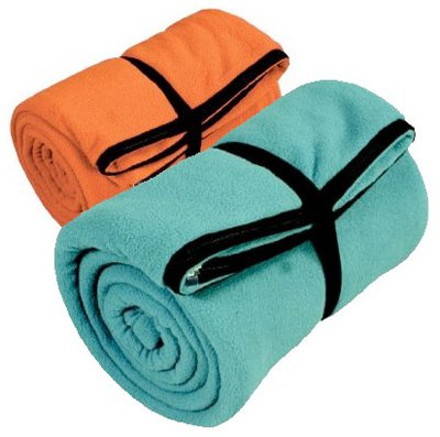 2000008063 Coleman Stratus Polyester Fleece Orange/Teal 33x75in Sleeping Bag