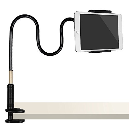 Tryone Gooseneck Tablet Stand, Tablet Mount Holder for iPad iPhone Series/Nintendo Switch/Samsung Galaxy Tabs/Amazon Kindle Fire HD and more, 38in Overall Length (Arm Switch)