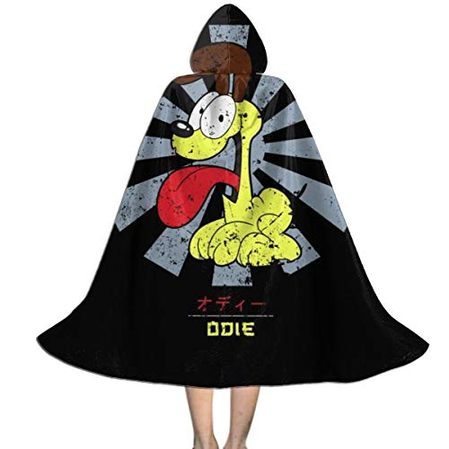 Garfield And Odie Halloween Costumes (Odie Garfield Retro Japanese Unisex Kids Hooded Cloak Cape Halloween Xmas Party Decoration Role Cosplay Costumes)