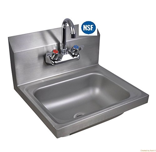 Commercial Stainless Steel Wall-Mount Hand Sink 12 x 12 - NSF
