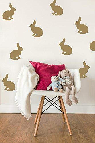 Amazon.com: Bunny Wall Decal, Rabbit Wall Decal, Bunny Wall Art ...
