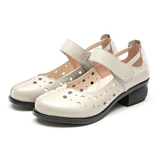 Sandalia/Cuero grueso corte zapatos/ Sandalias/ sandalias antideslizantes en el verano C