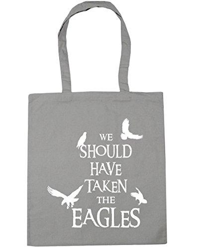 HippoWarehouse WE debería haber tenido el Eagles Tote Compras Bolsa de playa 42cm x38cm, 10litros gris claro