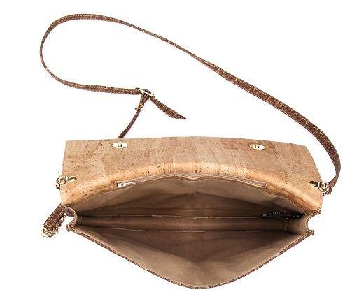 Abendtasche, Clutch aus Kork, Handtasche aus Kork