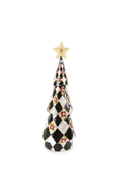 Mackenzie Childs Christmas Ornaments.Mackenzie Childs Harlequin Poinsettia Tree Short