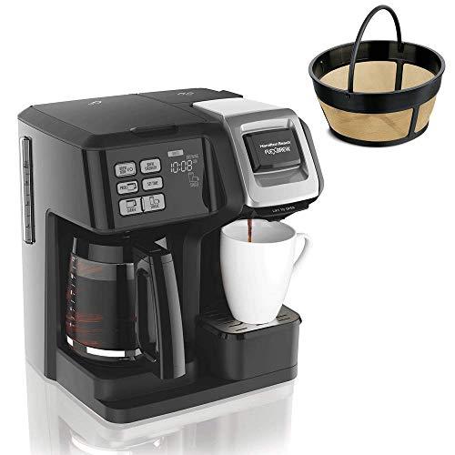 Hamilton FlexBrew Programmable Coffee Maker & Cupcake Permanent Coffee Filter