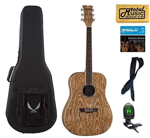 Dean Guitars AX DQA GN Acoustic Guitar LW Case Bundle (Dean Ax Dqa Acoustic Guitar)
