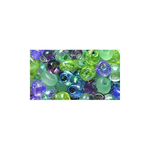 Miyuki Magatama Seed Bead, 4mm, Drop Mix, Lavender Garden, 25-Gram/Pack