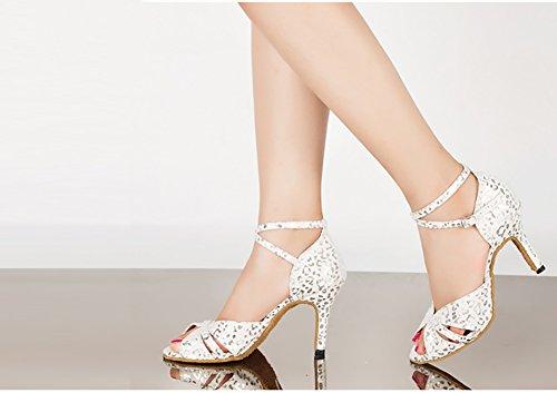 Xue Scarpe Scamosciati sandali Ballo Stampa Dimensione E Interni Latino Blu Serali Bianca 33 Glitter Scintillanti Un tacchi Un Party Donna Glitter Da colore rrOZd0qwA