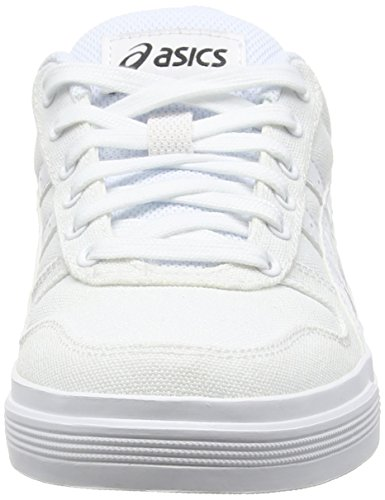 Adulte Asics Mixte Baskets Basses Aaron white Blanc white qrqzZBwI