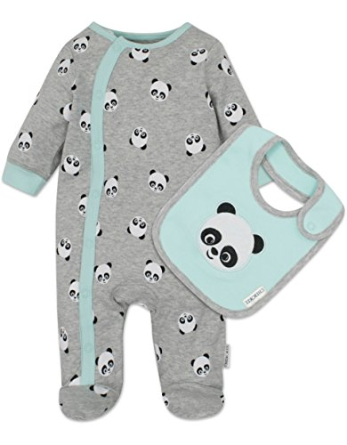 Cherokee Baby Boys' Footies and Bib Set Panda, 3-6 Months