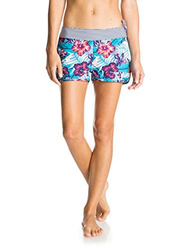 Roxy Women's Line It up 2 Boardshort, Norfolk Tropical Diamond Blue, M