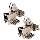 MATEE 2-Pack Cold Rolled Plate 165 Degree 2-Way Concealed Hinge for Wardrobes Cabinets Nickel Plated Screws Included (Half Overlay)