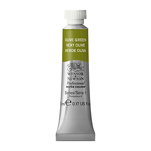 Winsor & Newton Professional Water Colour Paint, 5ml tube, Olive Green (Green 5 Ml Tube)