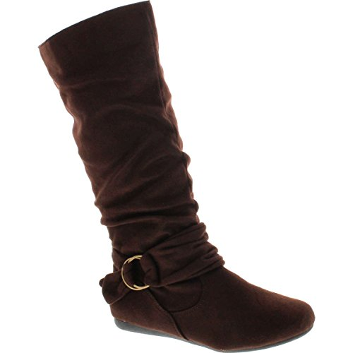 Slouch 67 Ankle Forever Mid Womens Selena Brown Boots Ring BESTON Calf With Cosy Deco Strap Link FgwqBtO
